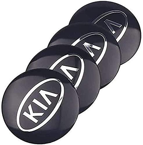 XFGGNB 4pcs 60mm Tapas Centrales de Llantas, 3D Emblema Tapas Centrales de Bujes Pegatinas con el Logotipo Rueda Accesorios para KIA Cerato Sportage R K2 K3 K5