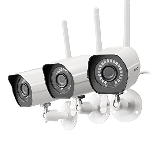 Zmodo Outdoor Camera Wireless, 1080p Security Camera Wireless, 3 Pack Indoor Outside WiFi Cameras Wireless, IR Night Vision, Motion Detection, Remote...