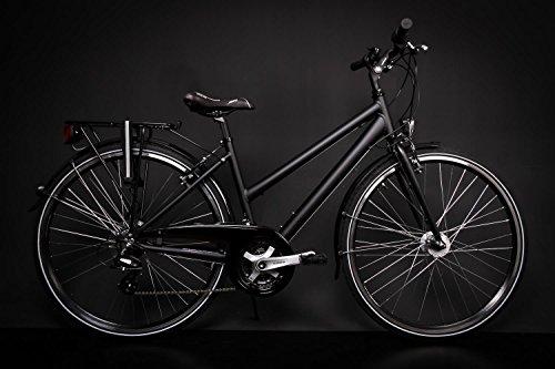 28' Zoll Alu MIFA Damen Trekkingbike Fahrrad Shimano 21 Gang Nabendynamo schwarz Rh 45cm
