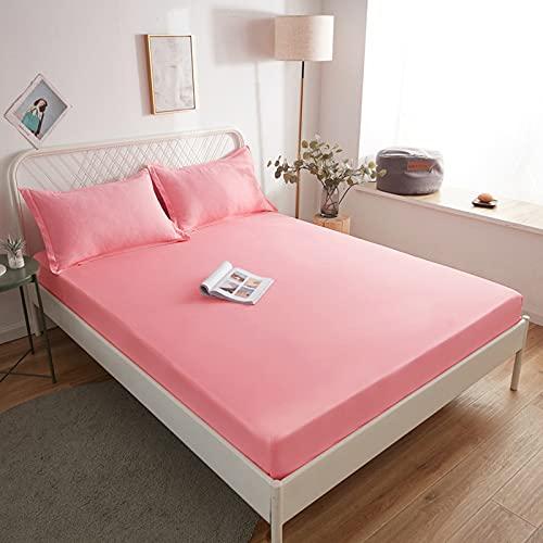 BOLO Hojas fáciles de limpiar, sábanas planas, 120 x 200 cm+30 cm