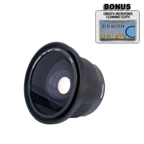.42x HD Super Wide Angle Panoramic Macro Fisheye Lens For The Canon VIXIA HF G20, HF G30 Digital Camcorder