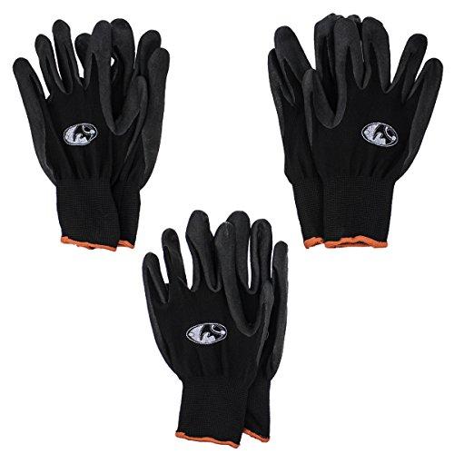 Black Rhino 00463 Black-Nitrile Work Gloves, Medium