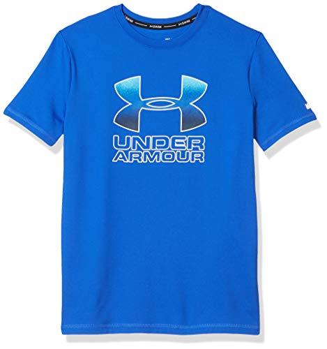 Under Armour UA Big Logo Flow Surf Shirt Camisa de protección de Sarpullido, Versa Blue Sp20, L para Niños