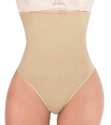 Hioffer 328 Women Waist Cincher Girdle Tummy Slimmer Sexy Thong Panty Shapewear Nude