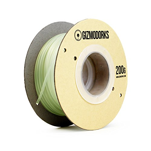 Gizmo Dorks ABS Filament for 3D Printers 3mm (2.85mm) 200g, Glow in the Dark