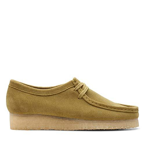 Clarks Wallabee, Zapatos de Cordones Derby para Mujer, Verde (Khaki Suede Khaki Suede), 37.5 EU