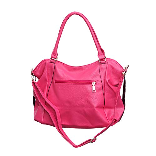 TENDYCOCO Europäische und amerikanische Umhängetasche Mode Elegante Messenger Bag Zipper Satchel Tote für Office Lady (Rosy)