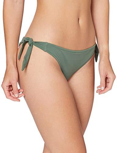 Amazon-Marke: Iris & Lilly Damen Bikini Unterteil mit Schnürung, Mehrfarbig (Khaki), M, Label: M