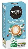 Nestle Nescafe ネスレネスカフェ - Instant Coffee / Vegan Sticks - インスタントコーヒー/ビーガンスティック - Coconut Latte / ココナッツラテ 4 x 6 coffee sticks - 並行輸入品