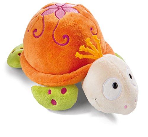 NICI 42198 Jolly Mäh Schildkröte Sula Kuscheltier, orange/grün, Länge ca. 15 cm