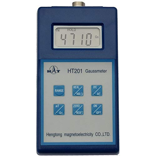 Buy Discount ZYL-YL Tesla Gauss Meter Tester Digital Magnetic Flux Meter Gauss Meter HT201 Handheld ...
