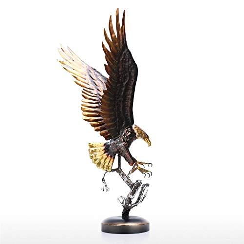 Yousiju Escultura de águila Calva, Adornos de Hierro Modernos, decoración artística con Sabor, artesanía Hecha a Mano, estatuilla de Animal Especial, decoración del hogar