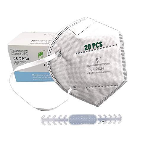 [20 Stück] Ffp2 Maske ce Zertifiziert, CE 2834, EN 149 Schutzmaske mit Maske Ohrhaken