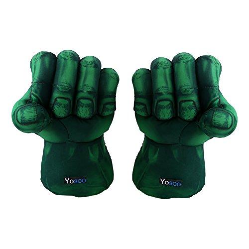 SOULONG Boxhandschuhe Hulk Kids Fists, 1 Paar Fäustlinge Soft Plush Fäustlinge Kids Fäustlinge Hulk Mittens Plüsh, Green