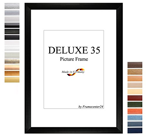 DELUXE35 Bilderrahmen 71x123 oder 123x71 cm in WENGE mit AntiReflex Kunstglas und MDF Rückwand, 35 mm breite MDF-Leiste mit Dekor Folienummantelung