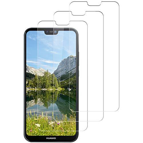 [3 Stück]Schutzfolie für Huawei P20 Lite Displayschutzfolie, [3 Stück][9H Härte][Blasenfrei][Anti-Kratzer][HD Ultr] Panzerfolie