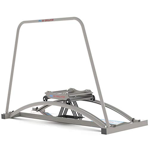 PRO SKI Simulator Basic - Ski Crosstrainer Fitnessgeräte für Zuhause - Hometrainer Sportgeräte Trainingsgeräte für Alle Muskelgruppen mit Verstellbarer Stärke