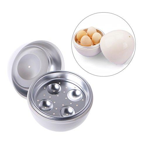 Mmnas Horno microondas Eamer Cocina Cooker fácil Qui 5 minutos de cocción dura o suave