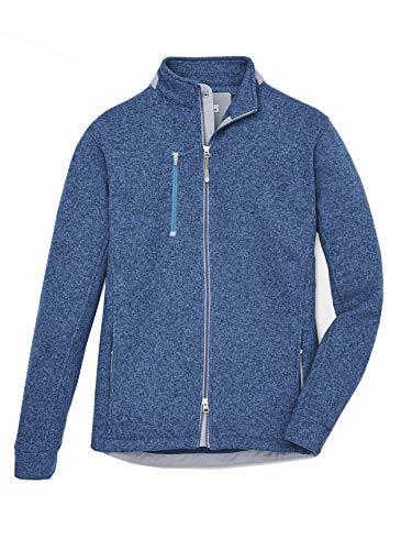 PETER MILLAR Men's LEAGACY Sweater Fleece Full Zip Jacket Plaza Blue XXL