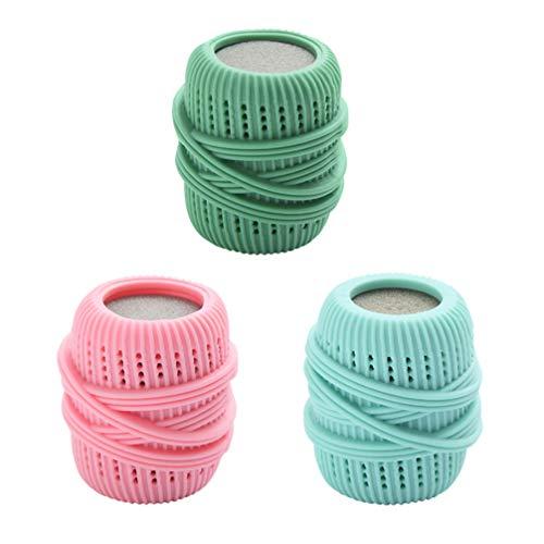 Cabilock 3Pcs Lavadora Bolas de Lavandería Ecológico Hipoalergénico Esponja Lavadora Bola Reutilizable Anti-Nudos Secador de Bolas Detergente para Lavadora Color Aleatorio
