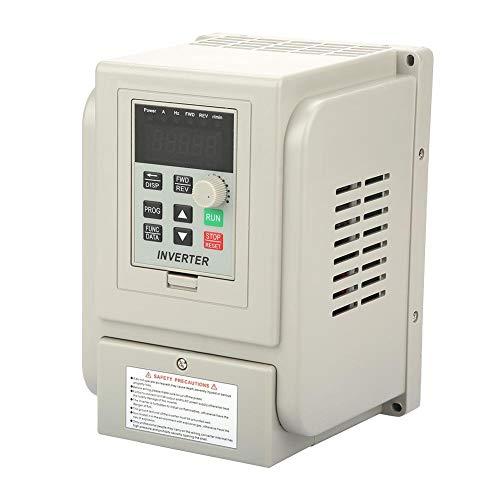 Broco Convertidor de frecuencia de inversor VFD, variador de frecuencia variable de 220 VCA Controlador de velocidad VFD para control de velocidad de motor de husillo de CA trifásico de 2,2 kW