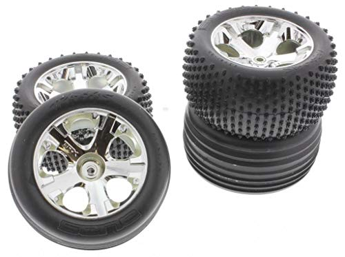 Traxxas RUSTLER XL-5 TIRES & WHEELS Front & Rear Rims