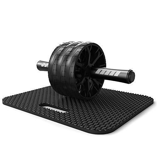3 Räder Ab Roller für Bauchmuskeltraining - Bauchmuskeltraining Rad mit weichem Kniepolster - Anti-Rutsch-Griffe Griffe, Core Trainer - Ideal für zu Hause, Fitnessstudio