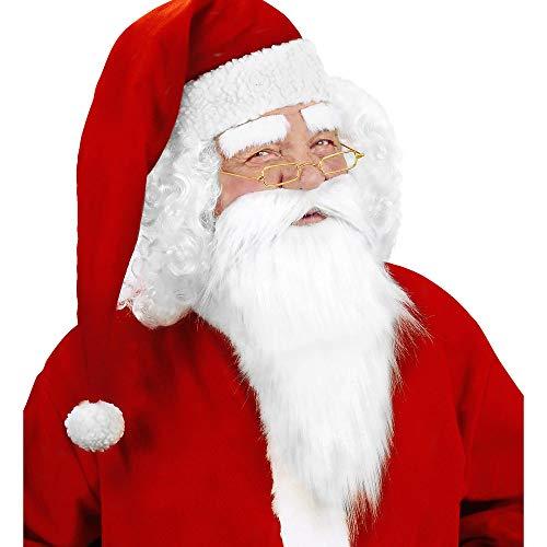 WIDMANN- Babbo Natale Barba Finta Uomo, Multicolore, 1517M