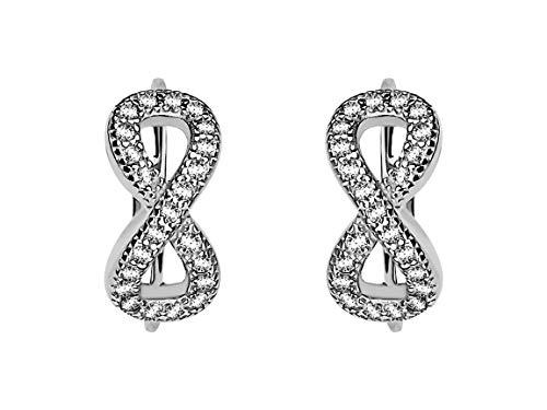 SOFIA MILANI - Damen Ohrringe 925 Silber - mit Zirkonia Steinen - Unendlich Creole - 20185