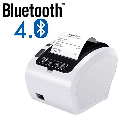 [Android Bluetooth Printer] 80mm Bluetooth Thermal Receipt Printer MUNBYN POS Printer with USB Ethernet Serial Port for Android Device Restaurant Shop Home Business ESC/POS