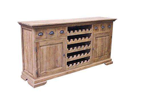 Teak Wein HIGHBOARD SE60-3 Teakholz Massiv Antik Anrichte Kommode Schrank