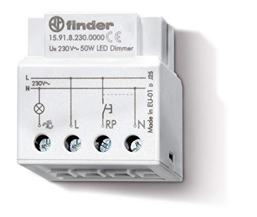 Finder 159182300000PAS Elektronischer Einbau-Dimmer, 230VAC, für weißleuchtende Lampen