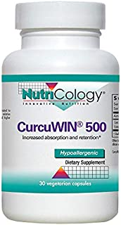 NutriCology CurcuWIN 500 30 Vegetarian Capsules