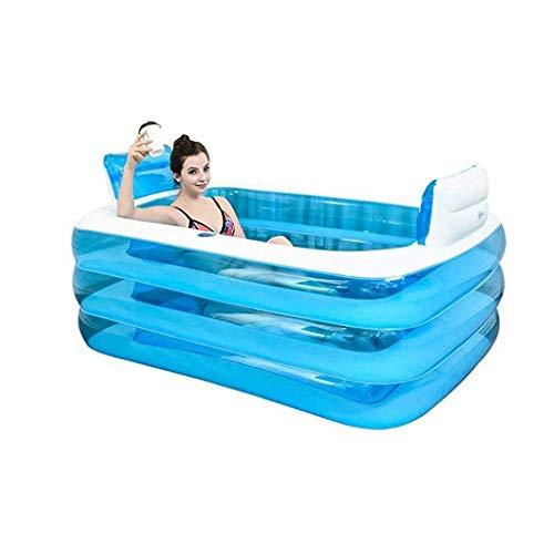NXYJD Bañera Inflable, Plegable Adulto/Menor Transparente portátil de bañera Plegable plástico de los niños Piscina Cubierta