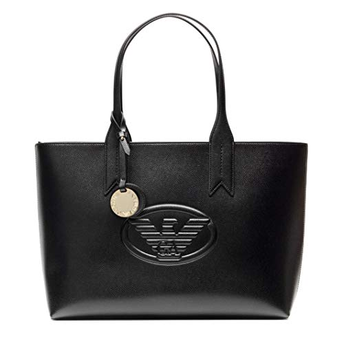 Emporio Armani Logo Shopping Mujer Handbag Negro
