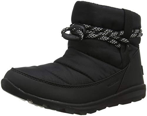 Sorel Women's Whitney Snow Boot, Black, Sea Salt, 5