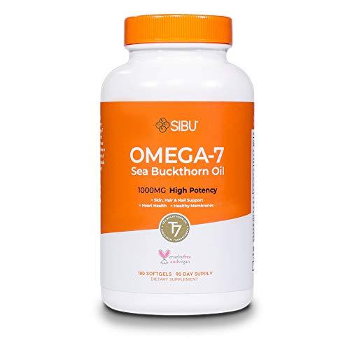 SIBU Omega 7 Sea Buckthorn Oil Soft gels, 180 ct