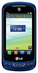 commercial LG Xpression C410 QWERTY Keyboard Slider GSM Phone Unlock – Basic Package – Blue lg phone slide