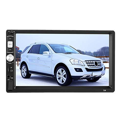 Estéreo para Auto 2 DIN, 7 Pulgadas 800 * 480 Pantalla Táctil Bluetooth Reproductor de Video MP5 Receptor Multimedia para Autoestéreos con Control Remoto Compatible con TF, USB, AUX