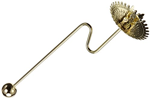 Glorex Christbaumkerzenhalter, Metall, Gold, 26 x 8.5 x 5 cm