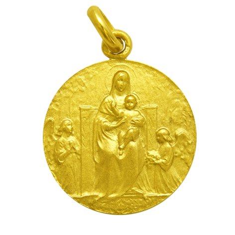 Nuestra Señora de los Angeles - Medalla en Oro de 1ª Ley de 18k