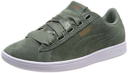 Puma Damen Suede Heart Velvet Rope 365111-01 Sneaker, Mehrfarbig (Khaki 001), 38 EU