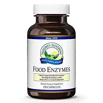 NATURE'S SUNSHINE Food Enzymes Supplement, 120 Count