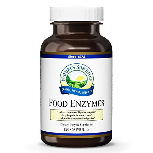 Nature's Sunshine Food Enzymes, 120 Capsules | Digestive Enzymes with Betaine HCL...