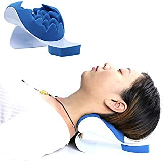 MEW Chiropractic Pillow, Suitable for Ease Neck Pain and Shoulder Pain Therapeutic and Helps Cervical Spine Alignment