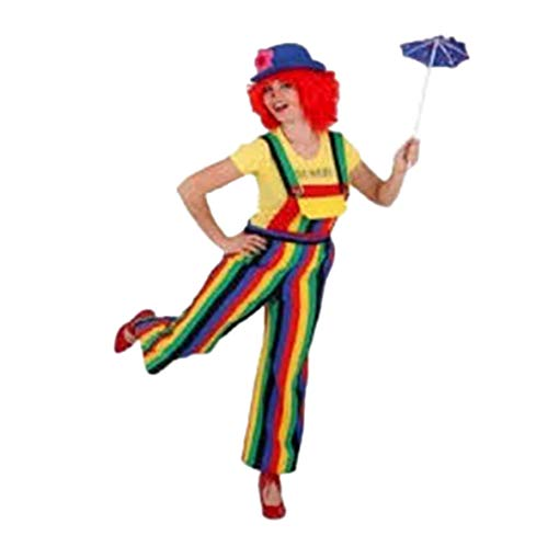 Faschingskostuem Damen Clownhose gestreift Gr. 44/46