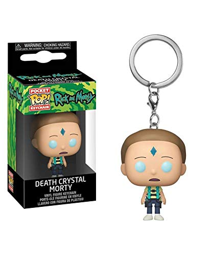 Popsplanet Funko Pop! Keychain – Animation – Rick And Morty Season 4 – Death Crystal Morty Keychain Vinyl Pocket Figure 4 cm Released 2019