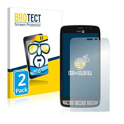 BROTECT Schutzfolie kompatibel mit Doro Liberto 825 (2 Stück) klare Bildschirmschutz-Folie