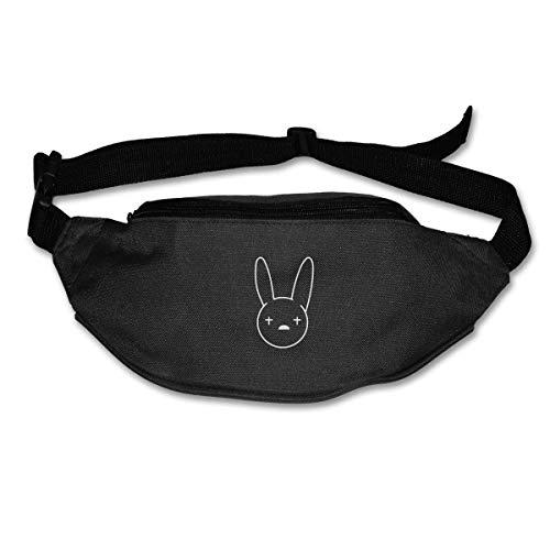NJIASGFUI - Riñonera para Mujer y Hombre con Logo de Bad-Bunny Muisc
