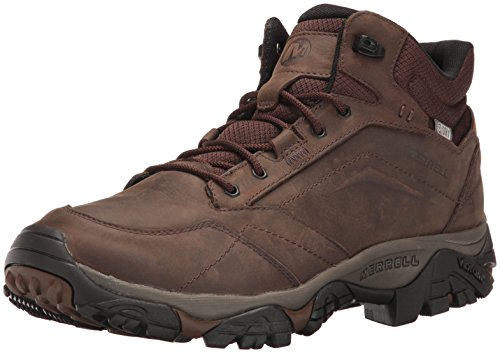 Merrell Men's Moab Adventure Mid Waterproof Hiking Boot, Dark Earth, 11 M US